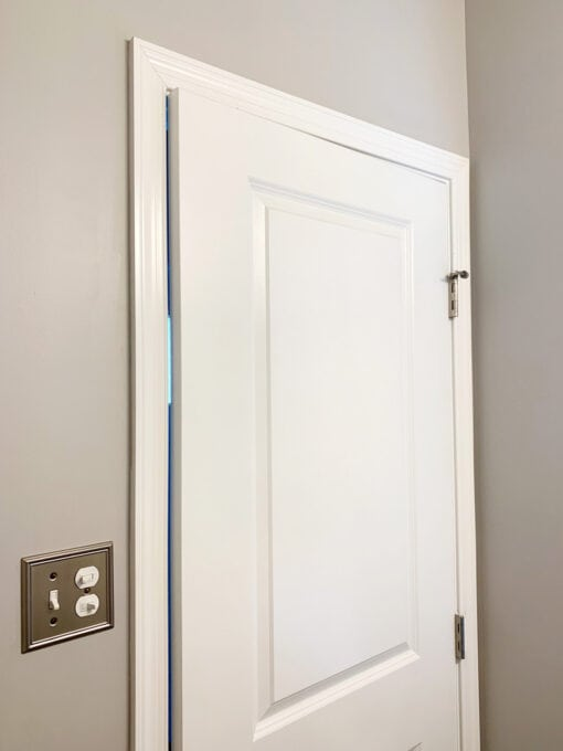 Basic Door Trim in a Powder Room