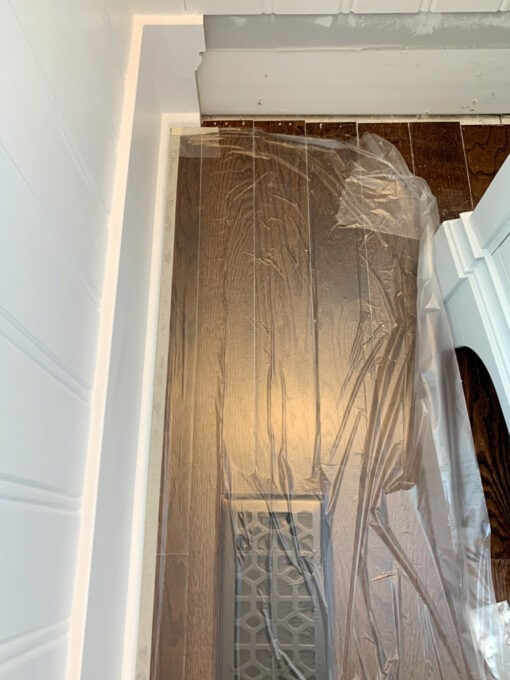 Painting Baseboard Shoe Moulding with Tape 'n Drape