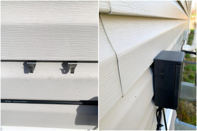 Using Siding Clips to Hang Transformer on House