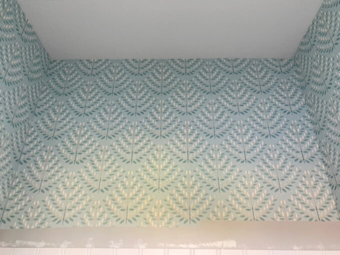 Wall of Wallpaper Installed
