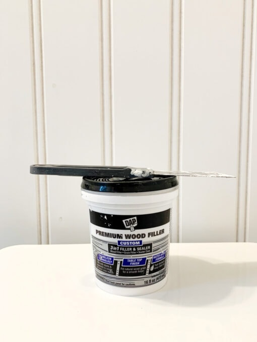 Wood Filler to Patch Holes in Wainscoting