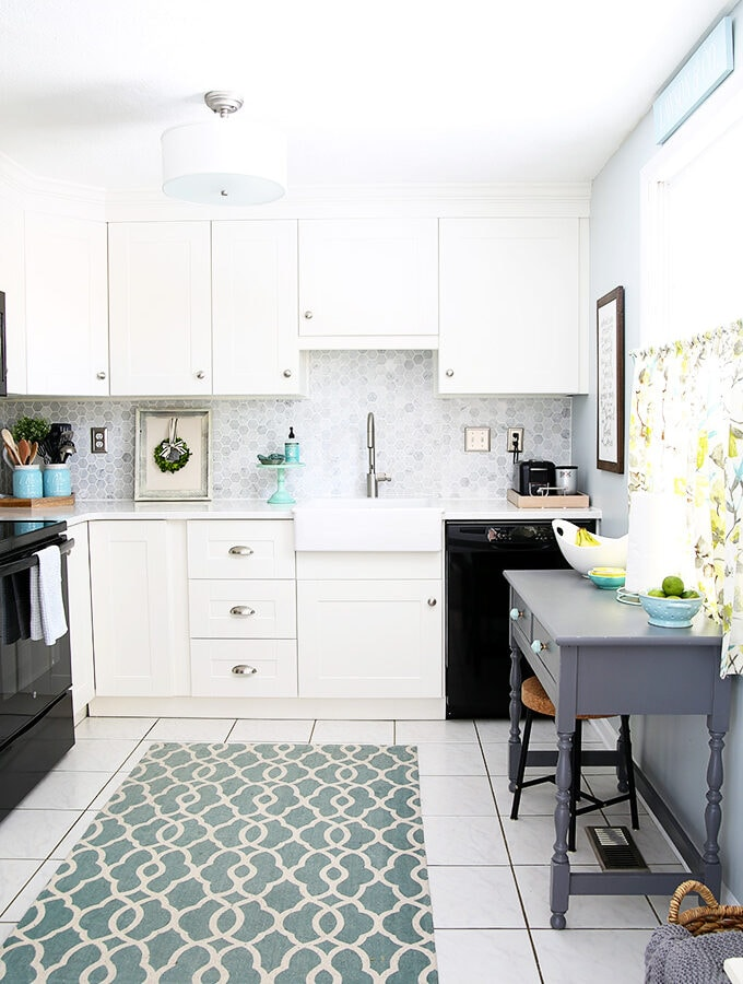 Townhouse Kitchen with White IKEA Cabinets