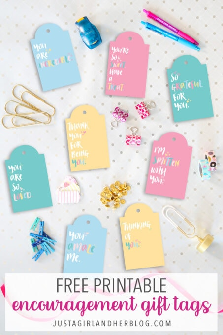 Free Printable Encouragement Gift Tags