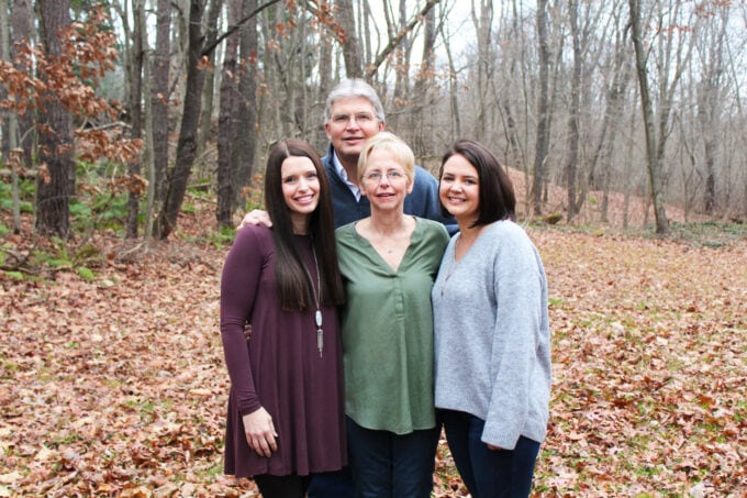 Dad, Mom, and Two Daughters