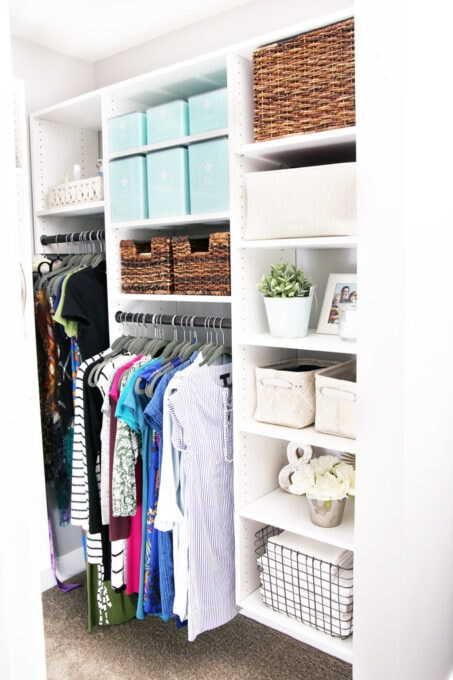 Closet with shelves for organized medications