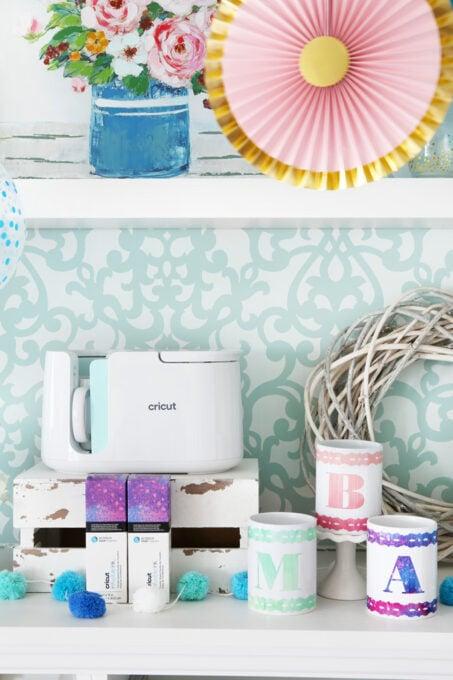 DIY Mugs with Initials Using Cricut Mug Press