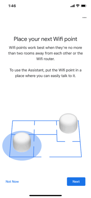 Google Wifi points placement recommendations