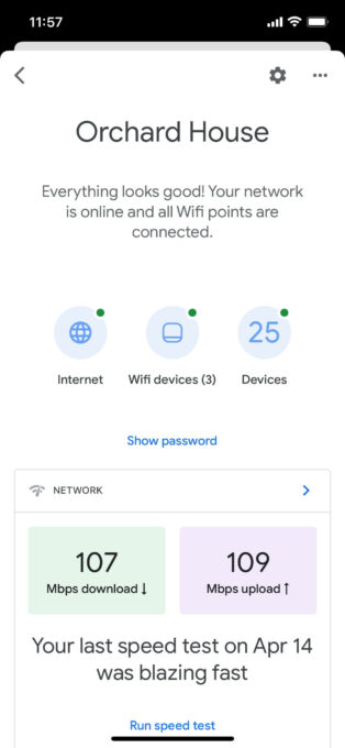 WiFi points connected