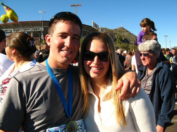Donnie and Abby after Phoenix half marathon in 2008